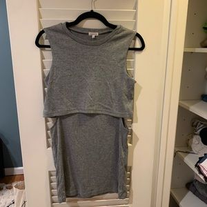 River Island mini t shirt dress with side cuts